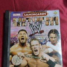 Coleccionismo Álbumes: ALBUM DE CROMOS LAMINCARDS. SMACK DOWN. RAW ECW. EDIBAS CASI COMPLETO A FALTA DE 1 LAMINCARD. Lote 212218962
