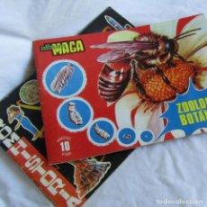 Coleccionismo Álbumes: 2 ALBUMES DE CROMOS MAGA CROMHISTORIA + ZOOLOGÍA Y BOTÁNICA. Lote 213406572