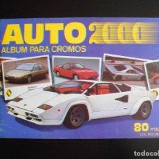Coleccionismo Álbumes: ALBUM DE CROMOS, AUTO 2000, 1988, FALTAN 9 CROMOS, EDITORIAL CROMI CROMO. Lote 213564498