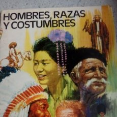 Coleccionismo Álbumes: ALBUM HOMBRES RAZAS Y COSTUMBRE EDITORIAL RUIZ ROMERO 1972 TIENE 69 CROMOS PEGADOS EN BUEN ESTADO. Lote 213620636
