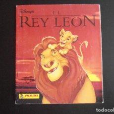 Coleccionismo Álbumes: ALBUM DE CROMOS, EL REY LEON, 1995. FALTAN 14 CROMOS, PANINI. Lote 213802817