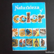 Coleccionismo Álbumes: ALBUM DE CROMOS, NATURALEZA Y COLOR, 1980. FALTAN 54 CROMOS, EDITORIAL CAREN. Lote 213803333