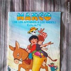 Coleccionismo Álbumes: MARCO DE LOS APENINOS A LOS ANDES FHER 1977 ÁLBUM CROMOS EXITO DE TV INCOMPLETO 40% VER FOTOS. Lote 214031216