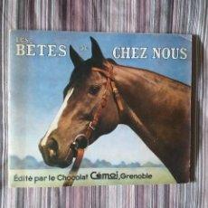 Coleccionismo Álbumes: LES BETES DE CHEZ NEUS CHOCOLATES CÉMOI GRENOBLE, ÁLBUM CROMOS ANIMALES DOMESTICADOS VER FOTOS. Lote 214031820