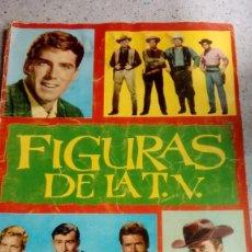 Coleccionismo Álbumes: ALBUM FIGURAS DE LA T.V. EDITORIAL FHER 1965 LE FALTAN 39 CROMOS EN GENERAL BUEN ESTADO. Lote 214199021