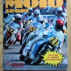 Coleccionismo Álbumes: ÁLBUM MOTO SPORT DE PANINI CROMOS CROM 1980 INCOMPLETO ALGÚN DEFECTO VER DESCRIPCIÓN Y FOTOGRAFÍAS. Lote 214274941