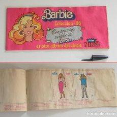Coleccionismo Álbumes: ÁLBUM CROMOS BARBIE COLECCIÓN 86 -AÑOS 80 -CON ALGUNOS CROMO - CHICLE FLEER NIÑA - MUÑECA DE JUGUETE. Lote 214325892