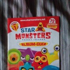 Coleccionismo Álbumes: ALBUM INCOMPLETO TIENE 6 CROMOS STAR MONSTERS POCKET FRIENDS ALBUM GUIA MAGICBOX. Lote 214404227