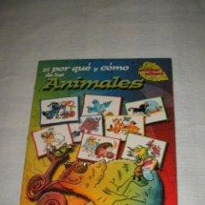 Coleccionismo Álbumes: ÁLBUM DE CROMOS NUEVO Y VACÍO: EL POR QUÉ Y CÓMO DE LOS ANIMALES. Lote 215261797