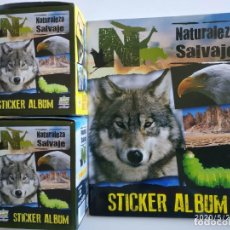 Collectionnisme Albums: LOTE DE ÁLBUM Y 100 SOBRES NATURALEZA SALVAJE EDIBAS MUNDI CROMO 2013. Lote 235586140