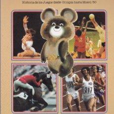 Coleccionismo Álbumes: LIBRO DE JUEGOS OLIMPICOS MOSCU SIN CROMOS COLA CAO NUTREXPA BARCELONA. Lote 216867955
