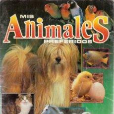 Coleccionismo Álbumes: ÁLBUM INCOMPLETO MIS ANIMALES PREFERIDOS (PANINI). Lote 217243958