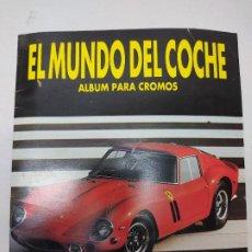 Coleccionismo Álbumes: ÁLBUM DE CROMOS ORIGINAL EL MUNDO DEL COCHE CROMOS EDITORIAL DANY. Lote 217375415