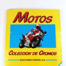 Coleccionismo Álbumes: ÁLBUM DE CROMOS MOTOS - EDICIONES UNIDAS - MOTOR 16 - 122 CROMOS. Lote 218766936