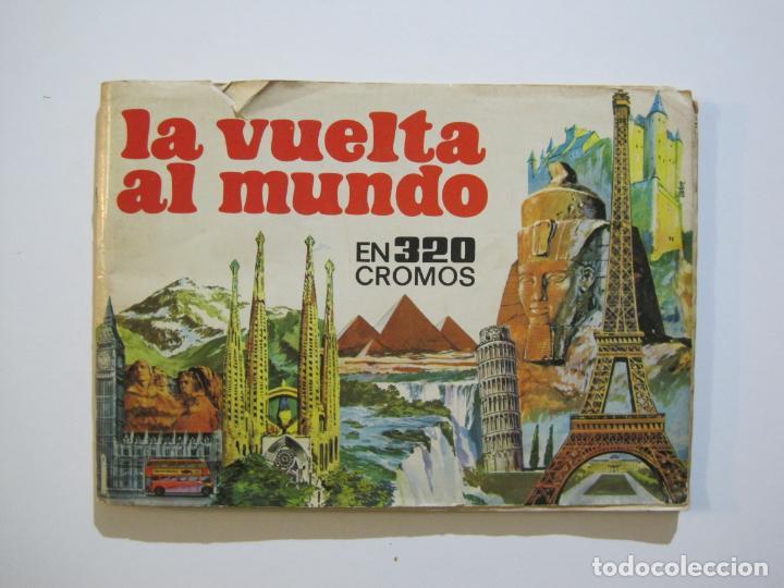 LA VUELTA AL MUNDO EN 320 CROMOS-ALBUM CASI COMPLETO-EDITORIAL BRUGUERA-VER FOTOS-(V-22.231) (Coleccionismo - Cromos y Álbumes - Álbumes Incompletos)