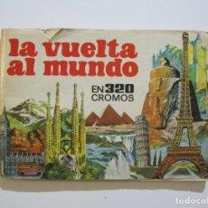 Coleccionismo Álbumes: LA VUELTA AL MUNDO EN 320 CROMOS-ALBUM CASI COMPLETO-EDITORIAL BRUGUERA-VER FOTOS-(V-22.231). Lote 218839875