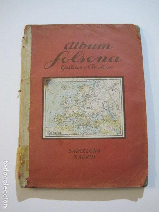 ALBUM SOLSONA GALLETAS Y CHOCOLATE-ALBUM DE CROMOS CASI COMPLETO-VER FOTOS-(V-22.275) (Coleccionismo - Cromos y Álbumes - Álbumes Incompletos)