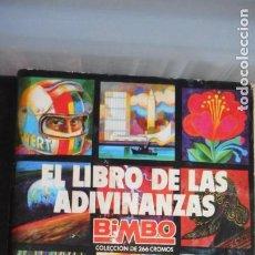 Coleccionismo Álbumes: ÁLBUM EL LIBRO DE LAS ADIVINANZAS DE BIMBO. Lote 219837152