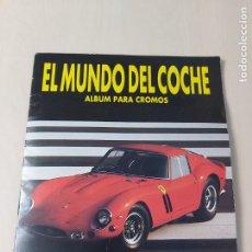 Coleccionismo Álbumes: ÁLBUM EL MUNDO DEL COCHE (ED. DANY) AÑOS 80 - FALTAN 9 CROMOS DE 120. Lote 220465845