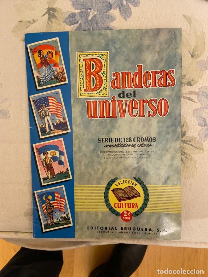 BANDERAS DEL UNIVERSO ALBUM CON 122 SE VENDEN SUELTOS (Coleccionismo - Cromos y Álbumes - Álbumes Incompletos)