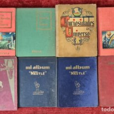 Coleccionismo Álbumes: COLECCIÓN DE 8 ALBUMS DE CROMOS NESTLE. AÑOS 30 Y 50.. Lote 221555762