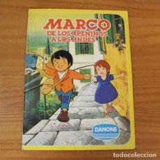 Coleccionismo Álbumes: MARCO DE LOS APENINOS A LOS ALPES 1ª PARTE. ALBUM DE CROMOS INCOMPLETO DANONE.. Lote 221745047
