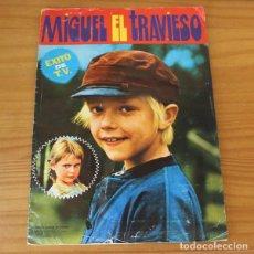 Coleccionismo Álbumes: MIGUEL EL TRAVIESO. ALBUM DE CROMOS INCOMPLETO EDITORIAL FHER 1977. Lote 221745092