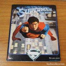 Coleccionismo Álbumes: SUPERMAN THE MOVIE. ALBUM DE CROMOS INCOMPLETO EDITORIAL FHER 1979.. Lote 221745195