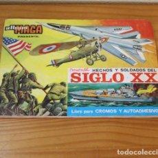 Coleccionismo Álbumes: HECHOS Y SOLDADOS DEL SIGLO XX. ALBUM DE CROMOS INCOMPLETO MAGA.. Lote 221745246