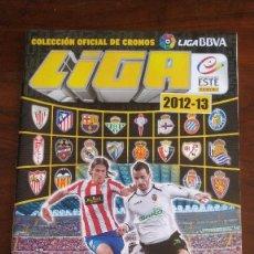 Coleccionismo Álbumes: ALBUM CROMOS LIGA ESTE 12/13 VACÍO + 470 CROMOS DIFERENTES. Lote 221956010