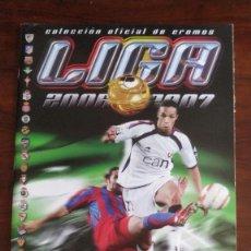 Coleccionismo Álbumes: ALBUM CROMOS LIGA ESTE 06/07 VACÍO + 460 CROMOS DIFERENTES. Lote 221957152