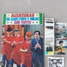 Coleccionismo Álbumes: AVENTURAS DE GABY FOFO Y MILIKI ALBUM DE CROMOS FHER CASI COMPLETO SIN PEGAR INCLUYENDO ADHESIVOS. Lote 222115516