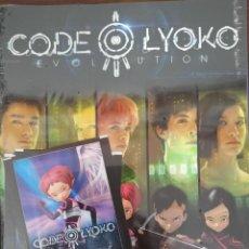 Coleccionismo Álbumes: ALBUM CODIGO LYOKO EVOLUTION - PANINI - CONTIENE 4 SOBRES DE CROMOS (PRECINTADO). Lote 222213957
