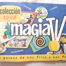 Coleccionismo Álbumes: ALBUM DE FIGURITAS MAGIA TV - URUGUAY - AÑO 1966. Lote 222329177