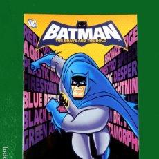 Coleccionismo Álbumes: BATMAN THE BRAVE AND THE BOLD.- ÁLBUM DE CROMOS - CASI VACÍO, SOLO 4 CROMOS. E-MAX (2009). Lote 222545090