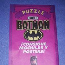 Coleccionismo Álbumes: ALBUM PUZZLE DE CHICLE BATMAN AÑO 1989 MUY DIFICIL DE CONSEGUIR EN MUY BUEN ESTADO.. Lote 222589100