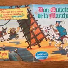 Collectionnisme Albums: ¡LIQUIDACION! PEDIDO MINIMO 5 EUROS - ALBUM CROMOS INCOMPLETO / DON QUIJOTE DE LA MANCHA - GCH1. Lote 222638608