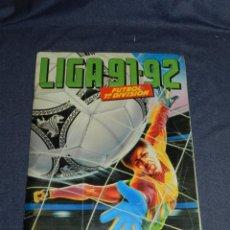 Coleccionismo Álbumes: ALBUM LIGA 91 / 92 , EDC ESTE - FALTAN 95 CROMOS , TODOS LOS FICHAJES , SEÑALES DE USO. Lote 223212231
