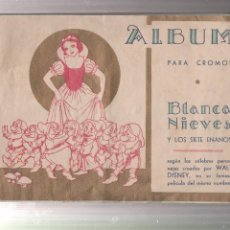 Coleccionismo Álbumes: ALBUM DE CROMOS-BLANCA NIEVES Y LOS SIETE ENANITOS-CROMOS FHER-BILBAO. Lote 223492151