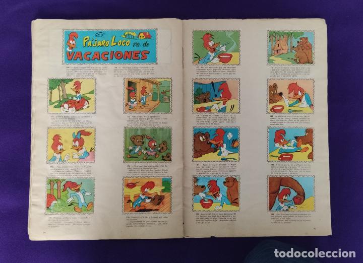 Coleccionismo Álbumes: ALBUM DE CROMOS INCOMPLETO. ALEGRES HISTORIETAS DEL PAJARO LOCO. FALTAN 5 CROMOS DE 200. FHER. 1957. - Foto 15 - 223594123