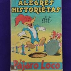 Coleccionismo Álbumes: ALBUM DE CROMOS INCOMPLETO. ALEGRES HISTORIETAS DEL PAJARO LOCO. FALTAN 5 CROMOS DE 200. FHER. 1957.. Lote 223594123