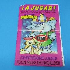 Coleccionismo Álbumes: ÁLBUM DE PREMIO - CHICLE HINCHABLE - FINIFANTE - GOLOSINAS FINI. Lote 224308362