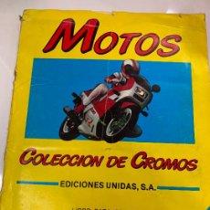 Coleccionismo Álbumes: ANTIGUO ALBUM DE CROMOS MOTOS, MOTOR 16, EDICIONES UNIDAS, CASI COMPLETO. TODO FOTOGRAFIADO. Lote 224909961