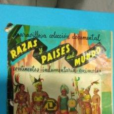 Coleccionismo Álbumes: ALBUM RAZAS Y PAISES DEL MUNDO CHOCOLATES NIETO TIENE PEGADOS 145 CROMOS. Lote 225895830