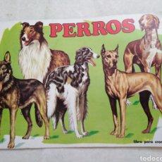 Coleccionismo Álbumes: ÁLBUM DE CROMOS PERROS ( VACÍO PLANCHA ). Lote 226686805