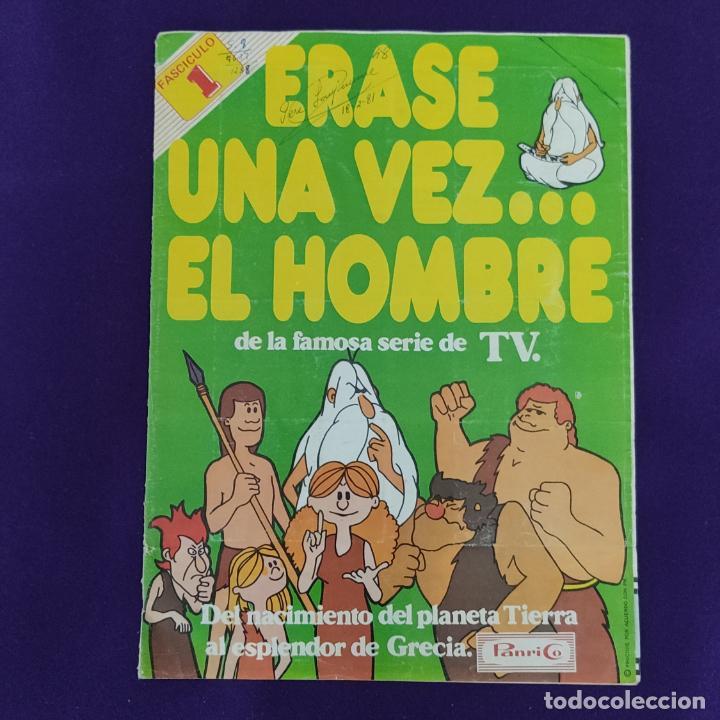 ALBUM COMPLETO. ERASE UNA VEZ EL HOMBRE. FASCICULO 1. PANRICO. 1978. (Coleccionismo - Cromos y Álbumes - Álbumes Incompletos)