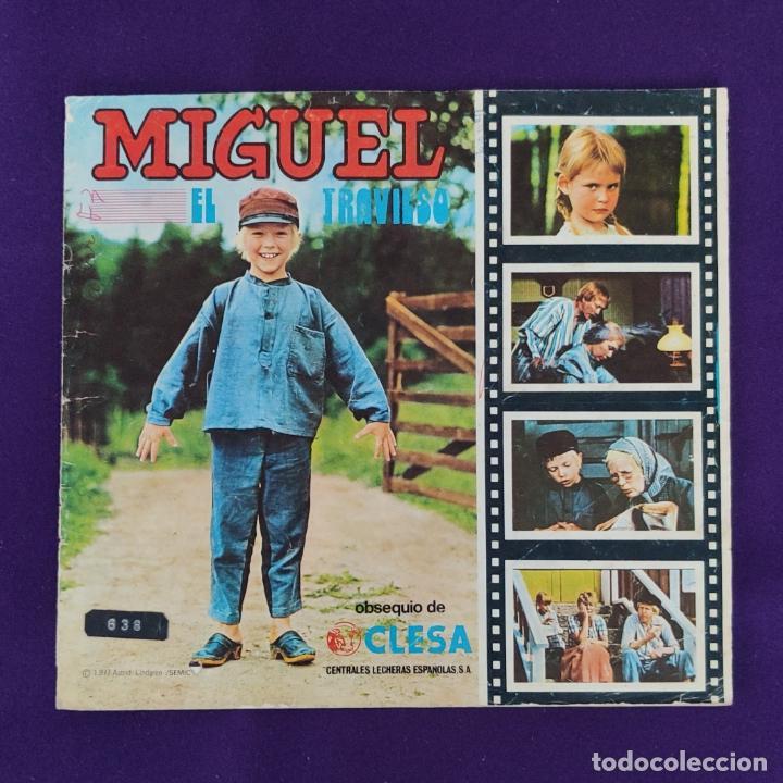 ALBUM INCOMPLETO. MIGUEL EL TRAVIESO. CLESA. 1977. FALTAN 3 CROMOS. (Coleccionismo - Cromos y Álbumes - Álbumes Incompletos)