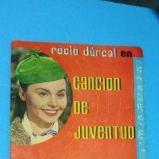 Coleccionismo Álbumes: ALBUM CANCION DE JUVENTUD DE ROCIO DURCAL EDITORIAL FHER 1962 LE FALTAN SOLO 5 CROMOS. Lote 227086610