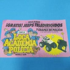 Coleccionismo Álbumes: ÁLBUM DE PREMIO - CHICLE - LOCA ACADEMIA DE POLICÍA. Lote 228251280