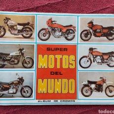 Coleccionismo Álbumes: ÁLBUM DE CROMOS SUPER MOTOS DEL MUNDO/MOTOS ANTIGUAS/MOTOR/OSSA,SUZUKI, GUZZI, DUCATI, MONTESA. Lote 228288475